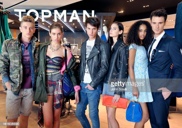 Models at the press day at Topshop Topman at the Grove on February 12 2013 in Los Angeles California