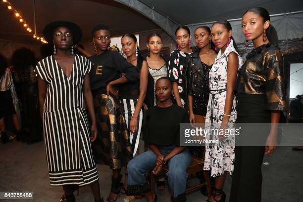 Models Attend Harlem's Fashion Row at La Marina Restaurant Bar Beach Lounge on September 6 2017 in New York City