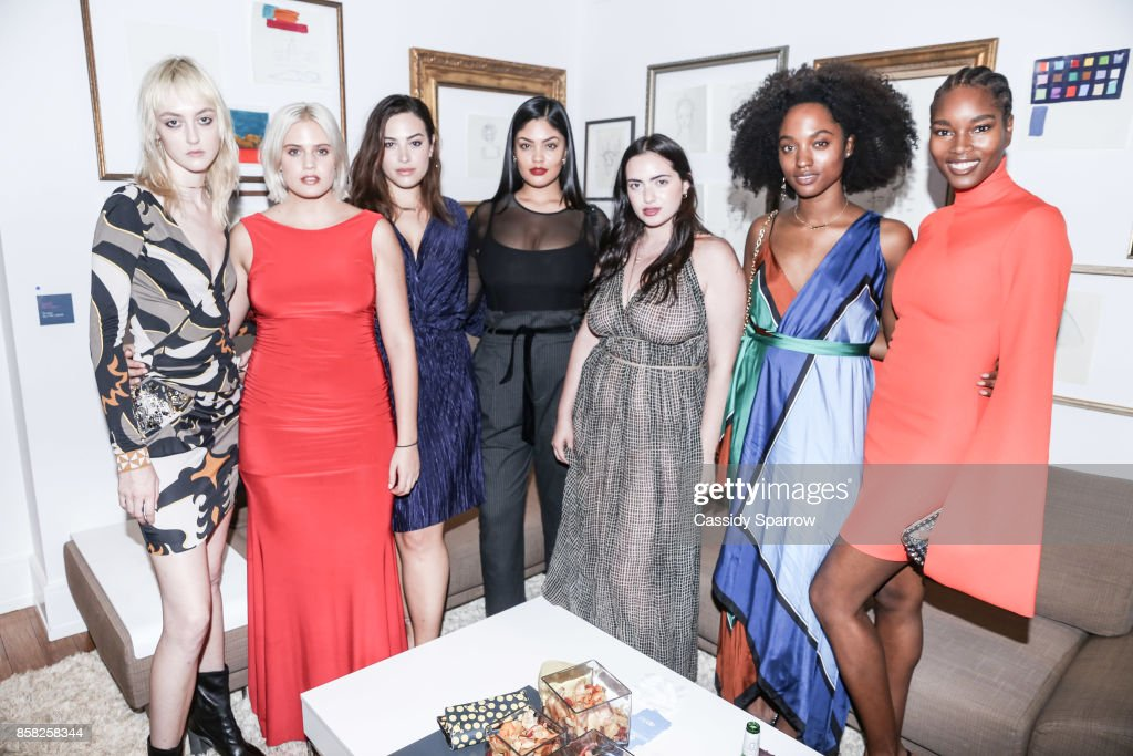 Models attend 'Terebintina' Exhibition Opening at Private Residence on October 5, 2017 in New York City.