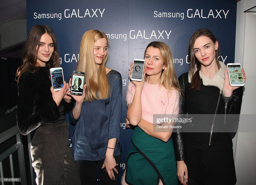 Models attend the Samsung Galaxy Lounge VIP Reception at Mercedes-Benz Fashion Week Fall 2013 at Lincoln Center on February 10, 2013 in New York City.