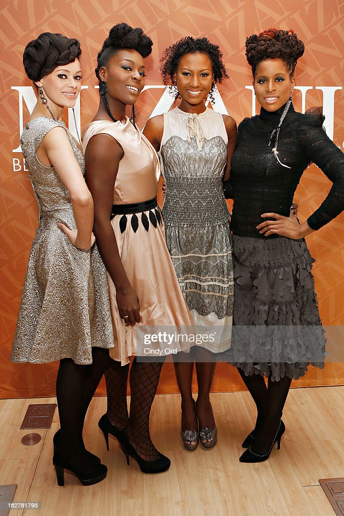 Models attend 'The Spoken Word' hosted by Kim Coles at L'Oreal Soho Academy on February 26, 2013 in New York City.