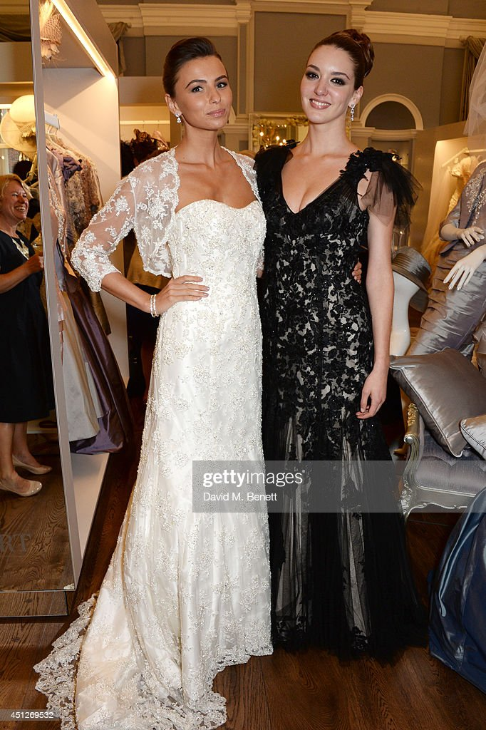 Models attends the Ian Stuart Blewcoat store opening on June 26, 2014 in London, England.