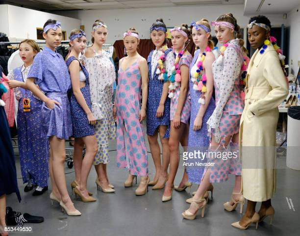 Models backstage at 2017 Vancouver Fashion Week Day 7 on September 24 2017 in Vancouver Canada