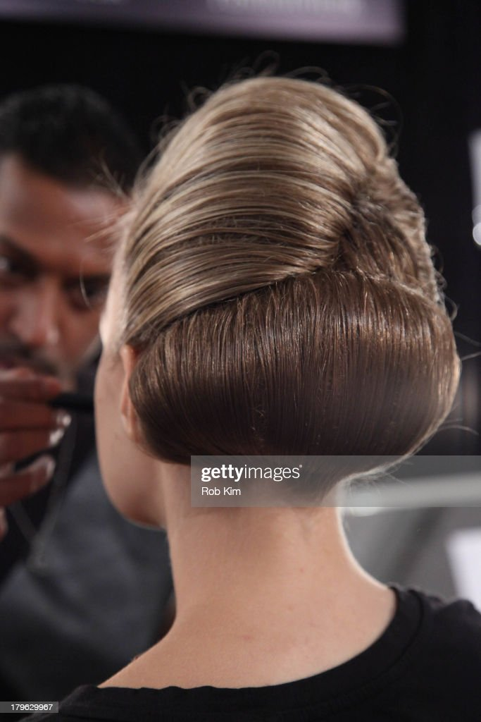 Models backstage at hair and makeup at the Candela presentation during Spring 2014 Mercedes-Benz Fashion Week at The Box at Lincoln Center on September 5, 2013 in New York City.