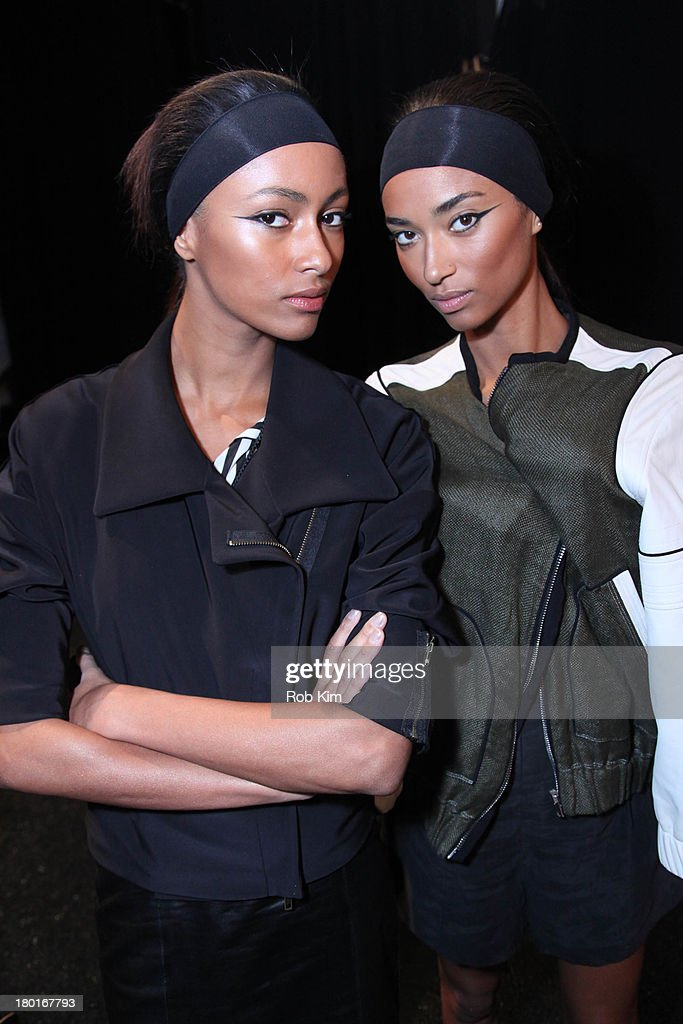 Models backstage at the Kaufmanfranco show during Spring 2014 Mercedes-Benz Fashion Week at The Theatre at Lincoln Center on September 9, 2013 in New York City.