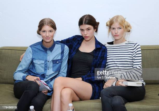 Models backstage at the Organic By John Patrick fashion show during MercedesBenz Fashion Week Spring 2014 on September 4 2013 in New York City
