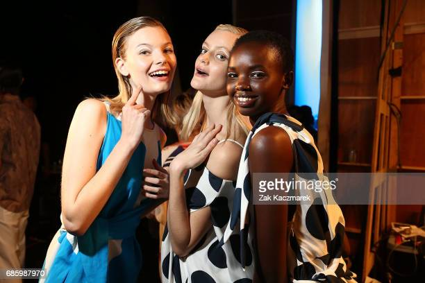 Models backstage during MercedesBenz Fashion Week Weekend Edition at Carriageworks on May 20 2017 in Sydney Australia