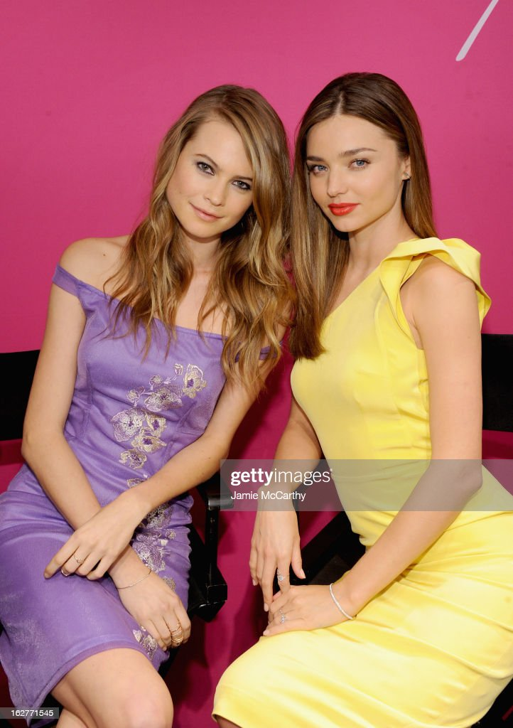 Models <a gi-track='captionPersonalityLinkClicked' href=/galleries/search?phrase=Behati+Prinsloo&family=editorial&specificpeople=4319064 ng-click='$event.stopPropagation()'>Behati Prinsloo</a> and <a gi-track='captionPersonalityLinkClicked' href=/galleries/search?phrase=Miranda+Kerr&family=editorial&specificpeople=5714330 ng-click='$event.stopPropagation()'>Miranda Kerr</a> attend Victoria's Secret Angels Launch Fabulous Collection at Victoria's Secret Herald Square on February 26, 2013 in New York City.