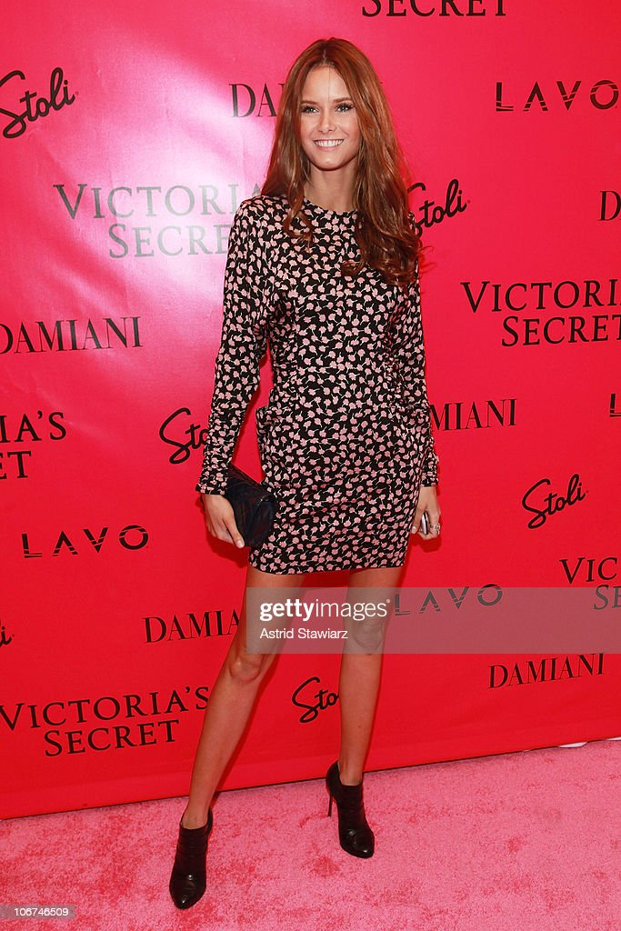 Models <a gi-track='captionPersonalityLinkClicked' href=/galleries/search?phrase=Behati+Prinsloo&family=editorial&specificpeople=4319064 ng-click='$event.stopPropagation()'>Behati Prinsloo</a> attends the after party following the 2010 Victoria's Secret Fashion Show at Lavo on November 10, 2010 in New York City.