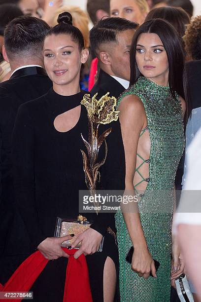 Models Bella Hadid and Kendall Jenner attend the 'China Through The Looking Glass' Costume Institute Benefit Gala at Metropolitan Museum of Art on...