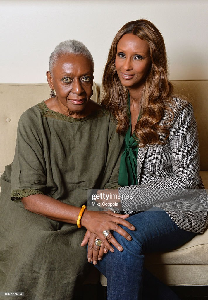 Models <a gi-track='captionPersonalityLinkClicked' href=/galleries/search?phrase=Bethann+Hardison&family=editorial&specificpeople=592075 ng-click='$event.stopPropagation()'>Bethann Hardison</a> (L) and <a gi-track='captionPersonalityLinkClicked' href=/galleries/search?phrase=Iman+-+Fashion+Model&family=editorial&specificpeople=132463 ng-click='$event.stopPropagation()'>Iman</a> pose for a picture on September 12, 2013 at IMAN Cosmetics in New York City. Hardison is the head of the Diversity Coalition, which is calling out the fashion industry alledging racism on the runway.