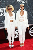 Models Blac Chyna and Amber Rose attend the 2015 BET Awards at the Microsoft Theater on June 28 2015 in Los Angeles California