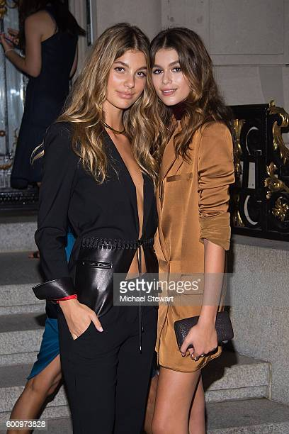 Models Camila Morrone and Kaia Gerber attend the CR Girls 'Seen And Unseen' Exhibition on September 8 2016 in New York City