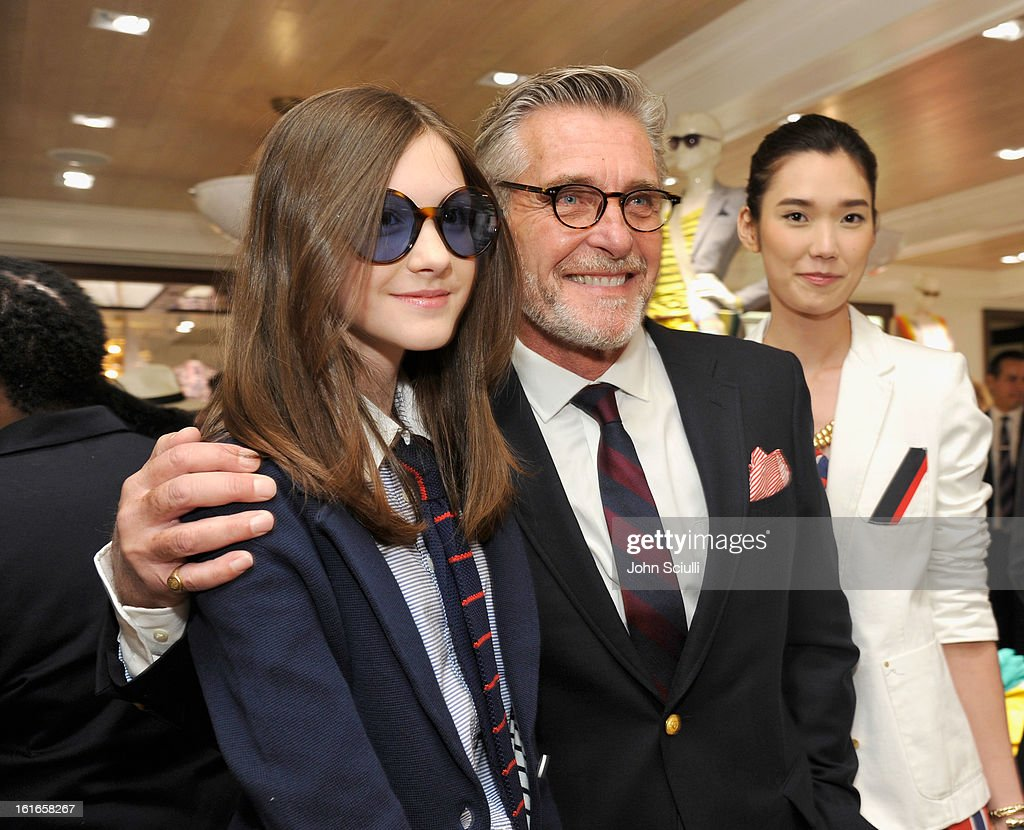 Models Chloe Blackshire, Bernard Fouquet and Tao Okamoto attends Tommy Hilfiger New West Coast Flagship Opening on Robertson Boulevard on February 13, 2013 in West Hollywood, California.