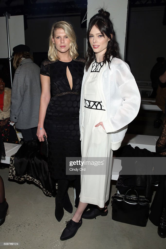 Models, <a gi-track='captionPersonalityLinkClicked' href=/galleries/search?phrase=Coco+Rocha&family=editorial&specificpeople=4172514 ng-click='$event.stopPropagation()'>Coco Rocha</a> and <a gi-track='captionPersonalityLinkClicked' href=/galleries/search?phrase=Alexandra+Richards&family=editorial&specificpeople=213455 ng-click='$event.stopPropagation()'>Alexandra Richards</a>, attend the Yigal Azrouel Fall 2016 fashion show during New York Fashion Week: The Shows at The Gallery, Skylight at Clarkson Sq on February 12, 2016 in New York City.
