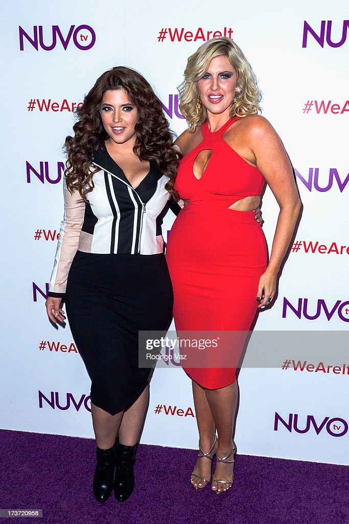 Models Denise Bidot (L) and Ivory May Kalber attend NUVOtv Network launch party at The London West Hollywood on July 16, 2013 in West Hollywood, California.