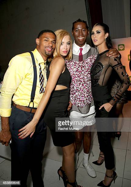 Models Denzel Wells Mirjana Puhar TV personality Miss J and model Shei Phan attend America's Next Top Model Cycle 21 premiere party presented by...