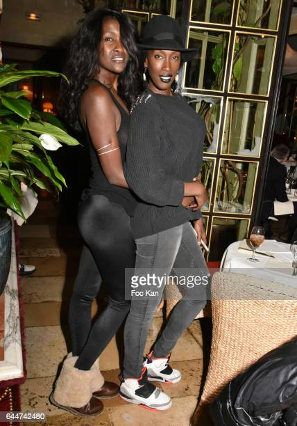 Models Diariata Niang and her sister Adame Niang attend 'Facade 16' Magazine After Party at Hotel Costes on February 23 2017 in Paris France