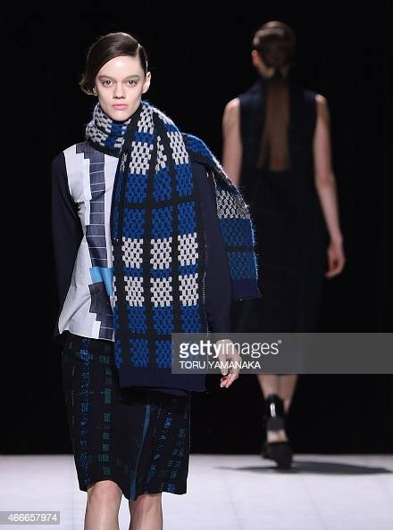 Models Display Creations By Japanese Designer Yasutoshi Ezumi During The Tokyo Fashion Week 39 S