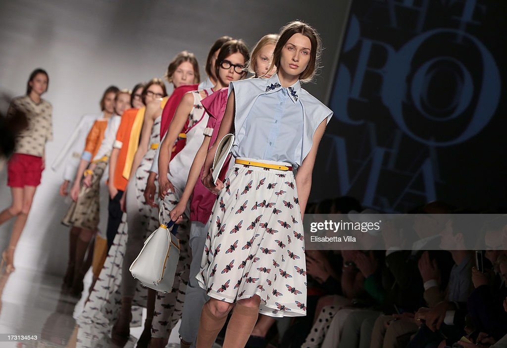 Models display creations by QuattroMani during 'Who Is On Next?' Altaroma Vogue Italia fashion show as part of AltaRoma AltaModa Fashion Week at Santo Spirito In Sassia on July 8, 2013 in Rome, Italy.