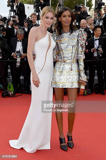 Models Doutzen Kroes and Liya Kebede attend the opening ceremony and premiere of 'La Tete Haute' during the 68th annual Cannes Film Festival on May...