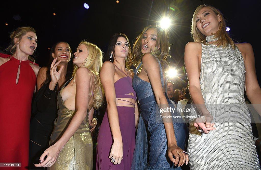 Models Doutzen Kroes Joan Smalls Lara Stone Kendall Jenner Jourdan Dunn and Karlie Kloss attend amfAR's 22nd Cinema Against AIDS Gala Presented By...