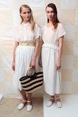 Models dressed in Litke during the Litke Spring 2015 Presentation on September 3 2014 in New York City