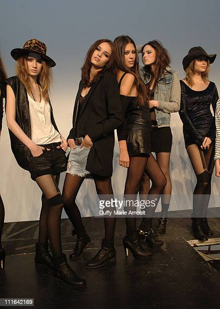 Models during the Erin Wasson RVCA presentation and party during MercedesBenz Fashion Week Fall 2009 at Milk Studios Penthouse on February 18 2009 in...