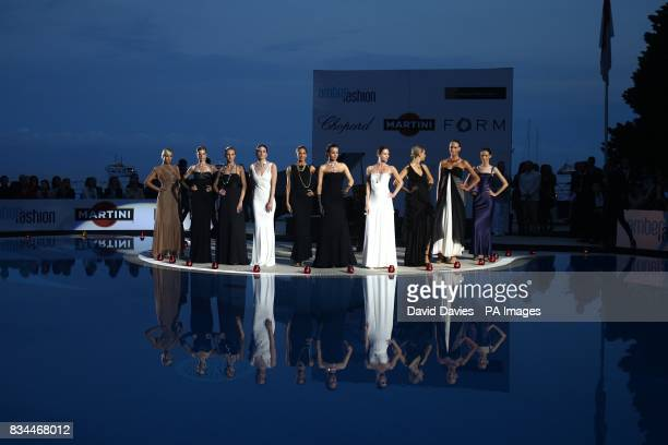 Models during the fashion show at the Grand Prix and Fashion Unite at The Amber Lounge Le Meridien Beach Plaza Hotel Monaco