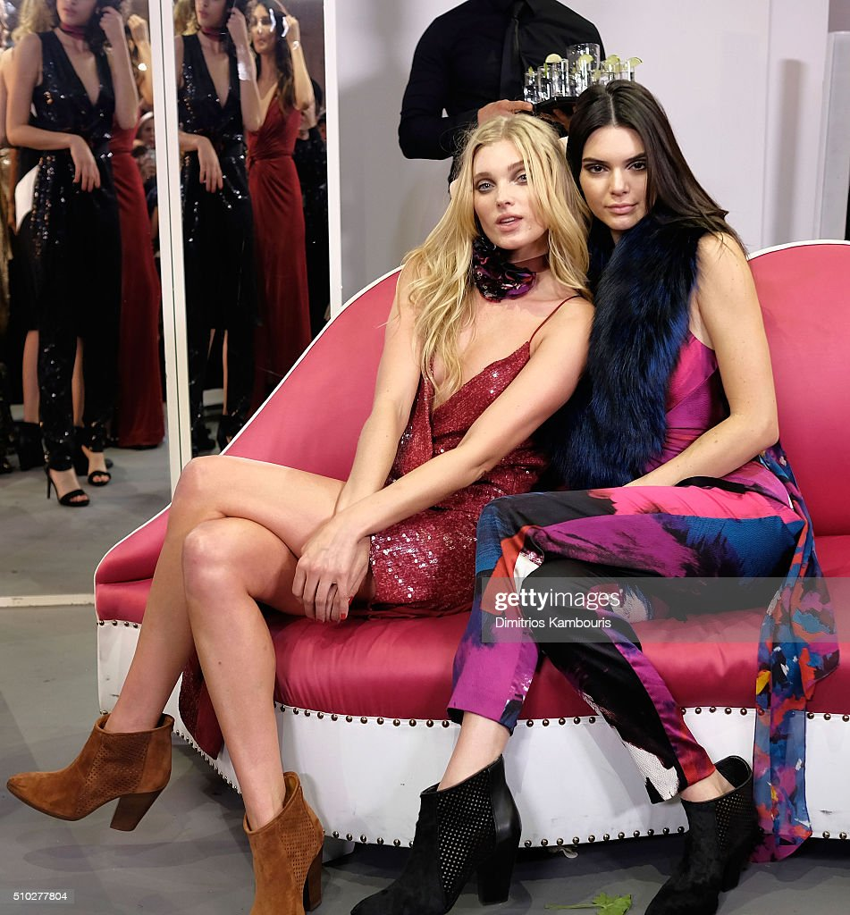 Models <a gi-track='captionPersonalityLinkClicked' href=/galleries/search?phrase=Elsa+Hosk&family=editorial&specificpeople=4436101 ng-click='$event.stopPropagation()'>Elsa Hosk</a> (L) and <a gi-track='captionPersonalityLinkClicked' href=/galleries/search?phrase=Kendall+Jenner&family=editorial&specificpeople=2786662 ng-click='$event.stopPropagation()'>Kendall Jenner</a> pose wearing Diane Von Furstenberg Fall 2016 during New York Fashion Week on February 14, 2016 in New York City.