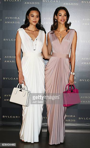 Models Emi Renata and Tayane attend the Bvlgari Avrora Awards at the Midtown Square on November 29 2016 in Tokyo Japan