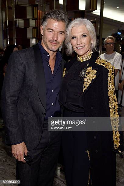 Models Eric Rutherford and Maye Musk attend the The Daily Front Row's 4th Annual Fashion Media Awards at Park Hyatt New York on September 8 2016 in...