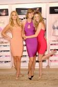 Models Erin Heatherton Karlie Kloss and Behati Prinsloo attend Victoria's Secret Celebrates Body By Victoria on July 30 2013 at Victoria's Secret...