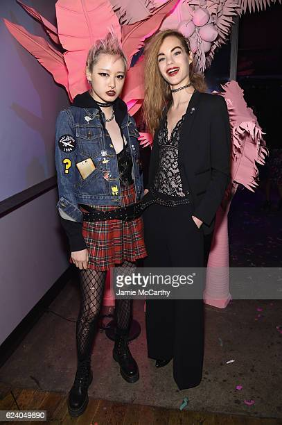 Models Fernanda Ly and Estella Boersma attend as Marc Jacobs celebrates #MarcTheNight on November 17 2016 in New York City