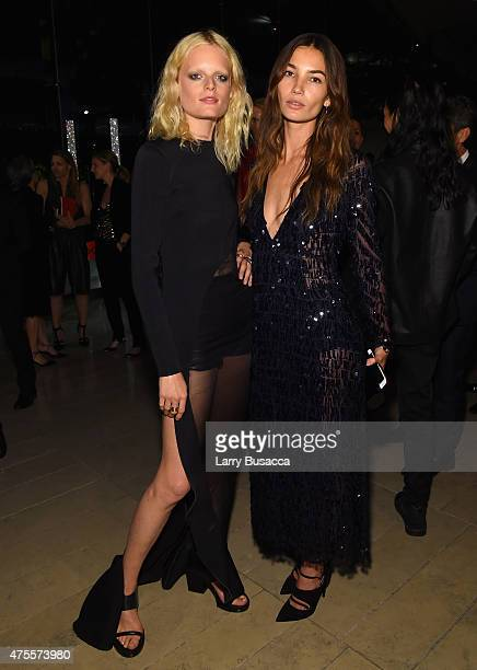 Models Hanne Gaby Odiele and Lily Aldridge attend the 2015 CFDA Fashion Awards at Alice Tully Hall at Lincoln Center on June 1 2015 in New York City