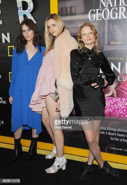 Models Hari Nef Andreja Pejic and Hanne Gaby Odiele attend as National Geographic hosts the world premiere screening of 'Gender Revolution A Journey...