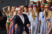Models including Avery Blanchard Julia Jamin Lineisy Montero Angel Rutledge Maartje Verhoef Bella Hadid Alecia Morais Hailey Baldwin Julie Hoomans...