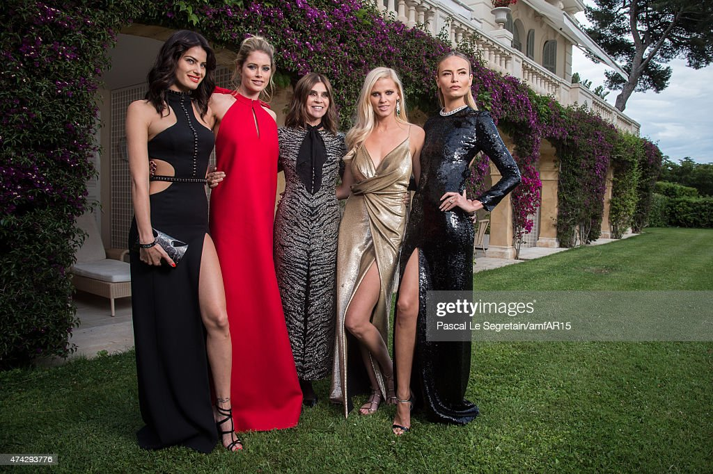 Models Isabeli Fontana Doutzen Kroes Designer Carine Roitfeld Models Lara Stone and Natasha Poly attend amfAR's 22nd Cinema Against AIDS Gala...