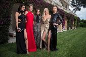 Models Isabeli Fontana Doutzen Kroes Designer Carine Roitfeld Models Lara Stone and Natasha Poly attend amfAR's 22nd Cinema Against AIDS Gala...