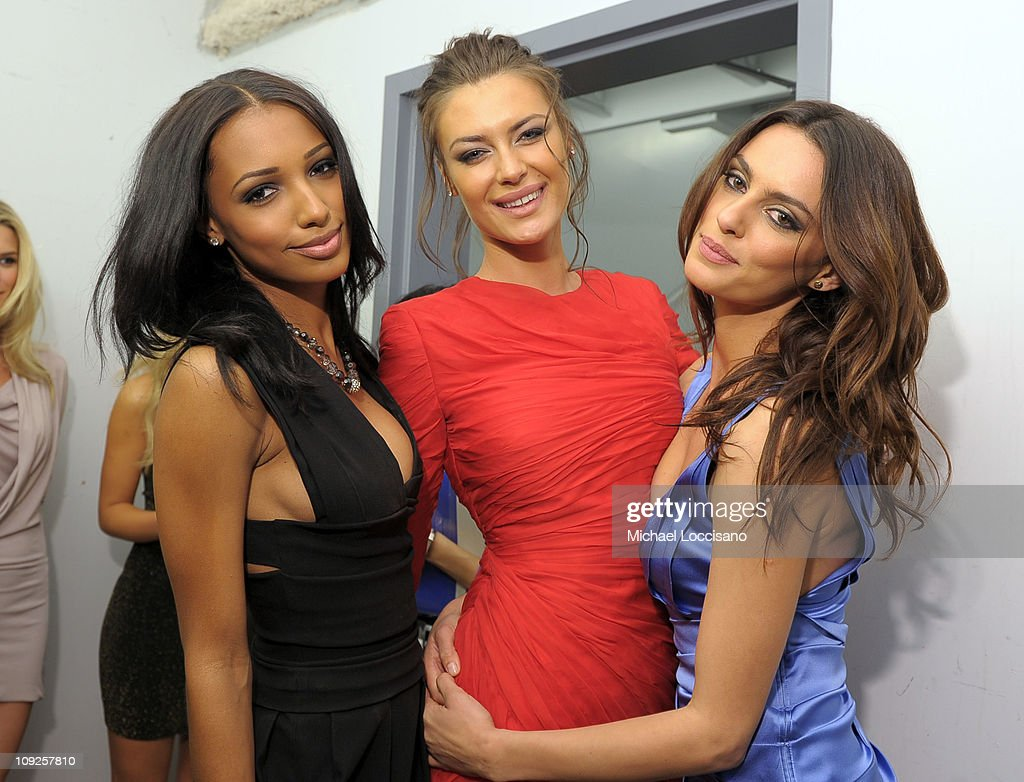 Models Jasmine Tookes, Elena Baguci and Catrinel Menghia attend Club SI Swimsuit hosted by Vanity at Vanity Nightclub at The Hard Rock Hotel and Casino on February 17, 2011 in Las Vegas, Nevada.