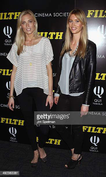 Models Jennifer Ohlsson and Camilla Thorsson attend Magnolia Pictures with The Cinema Society screening of 'Filth'at Landmark's Sunshine Cinema on...