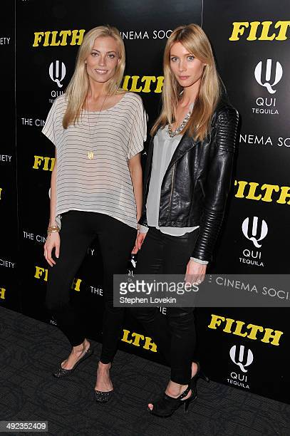 Models Jennifer Ohlsson and Camilla Thorsson attend 'The Filth' screening hosted by Magnolia Pictures and The Cinema Society at Landmark Sunshine...