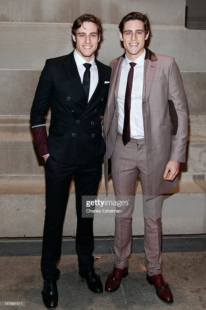 Models Jordan Stenmark and Zac Stenmark attend the 'In Vogue: The Editor's Eye' screening at the Metropolitan Museum of Art on December 4, 2012 in New York City.
