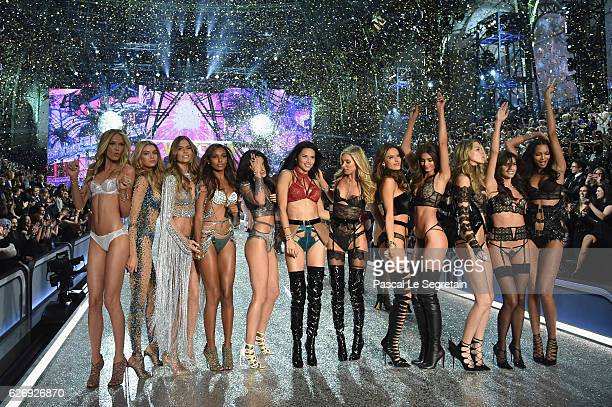 Models Josephine Skriver Jasmine Tookes Lily Aldridge Adriana Lima Elsa Hosk Alessandra Ambrosio Taylor Hill Martha Hunt Sara Sampaio and Lais...