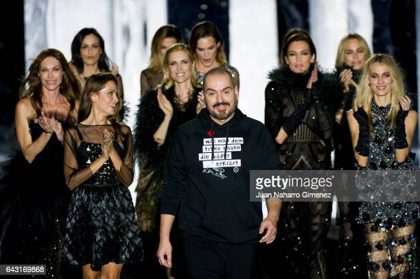 Models Judith Masco Nieves Alvarez Vanesa Lorenzo and Juan Duyos at the Duyos show during the MercedesBenz Madrid Fashion Week Autumn/Winter 2017 at...