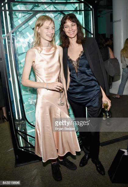 Models Julia Nobis and Kati Nescher attends the Tiffany Co Fragrance launch event on September 6 2017 in New York City