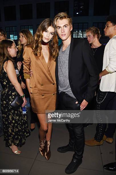 Models Kaia Jordan Gerber and Presley Walker Gerber attend the Maybelline New York NYFW KickOff Party on September 8 2016 in New York City