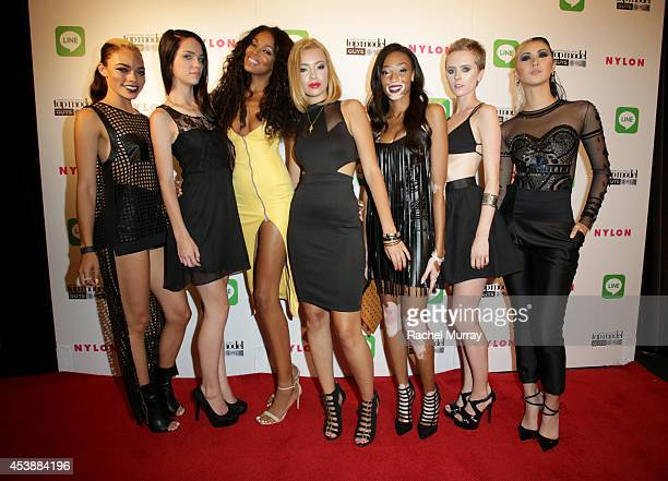 Models Kari Calhoun Lenox Tillman Raelia Lewis Mirjana Puhar Chantelle Young Ivy Timlin and Shei Phan attend America's Next Top Model Cycle 21...