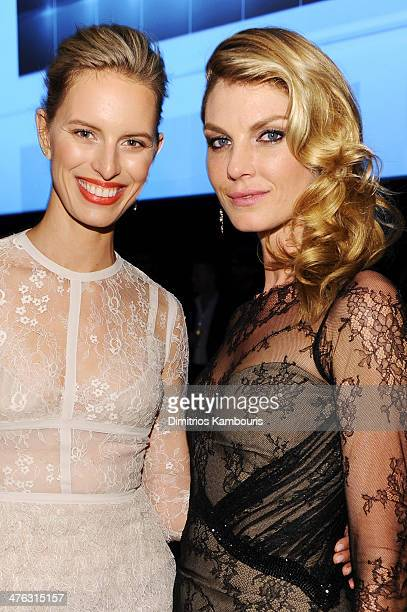 Models Karolina Kurkova and Angela Lindvall attend the 22nd Annual Elton John AIDS Foundation Academy Awards Viewing Party at The City of West...