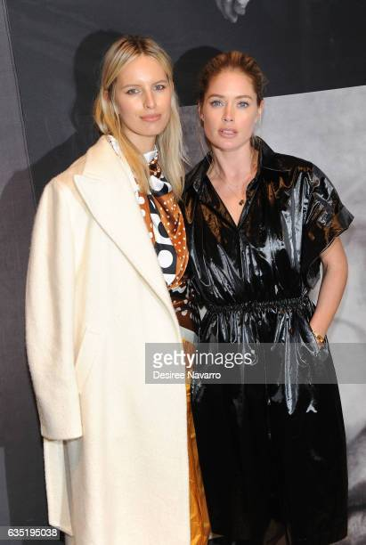 Models Karolina Kurkova and Doutzen Kroes attend The Pirelli Calendar Presents Peter Lindbergh On Beauty at Cipriani Wall Street on February 13 2017...